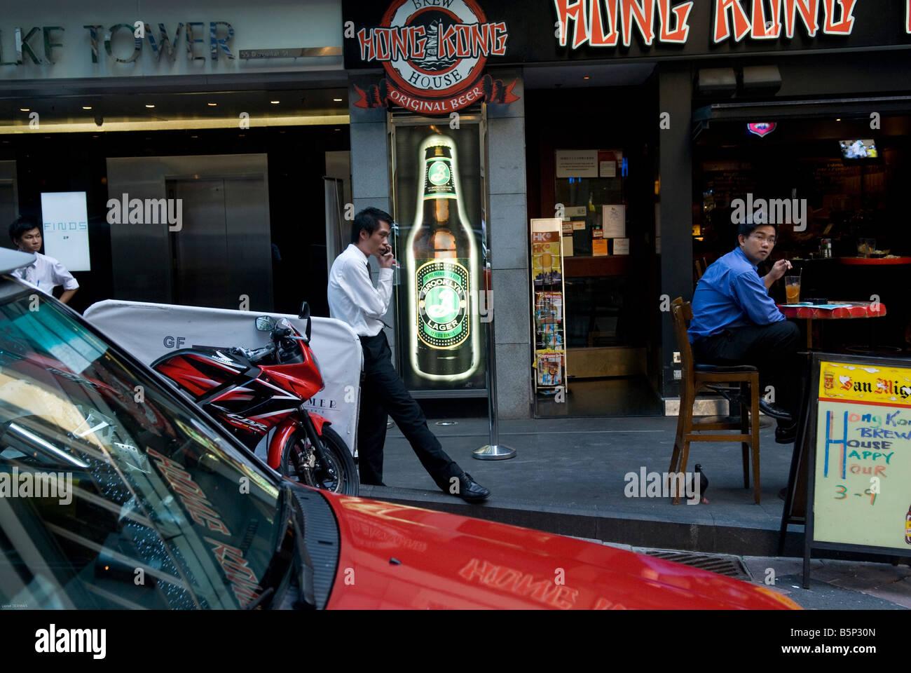 A bar in Hong Kong. - Stock Image