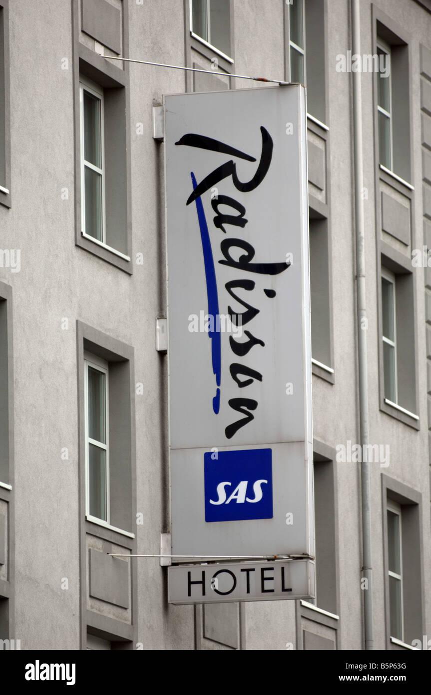 Radisson Hotel sign - Stock Image