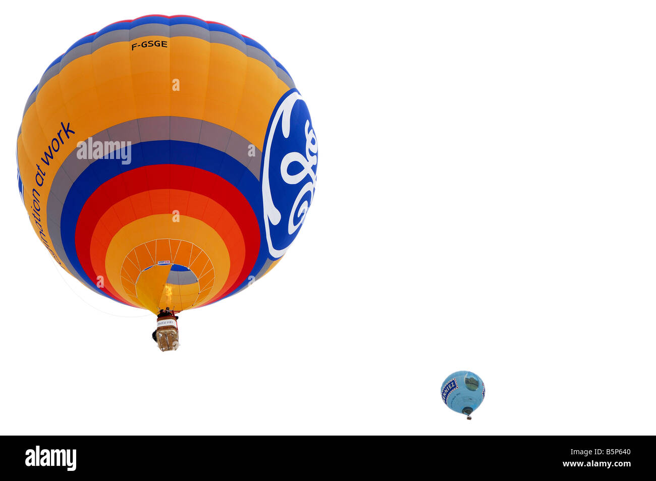 Montgolfier F GSGE Model CAMERON Z 120 Sponsor GE Energy Products, International Balloon Festival, Chateau d Oex, - Stock Image