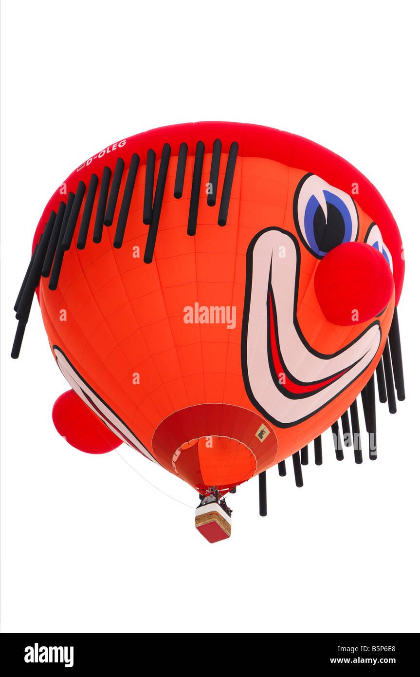 Special clown shaped balloon D OLEG Schroeder Fire Balloons Clown SS Stock Photo