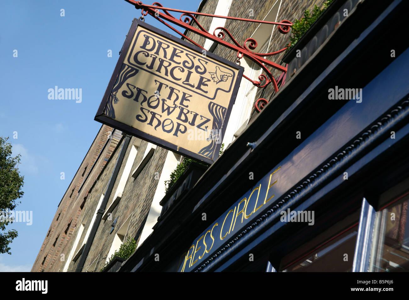 Dress Circle showbiz shop in London's Covent Garden - Stock Image