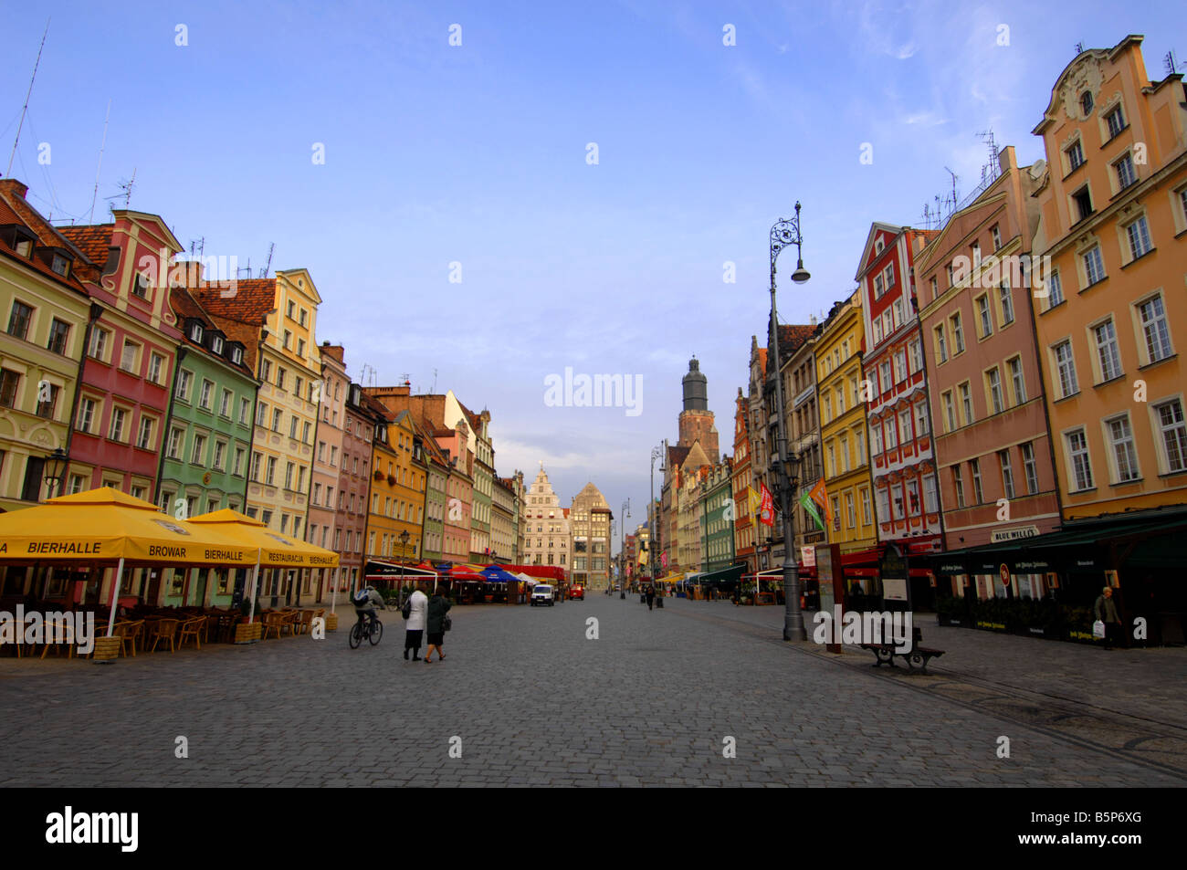 Rynek Square, Wroclaw, Poland Stock Photo