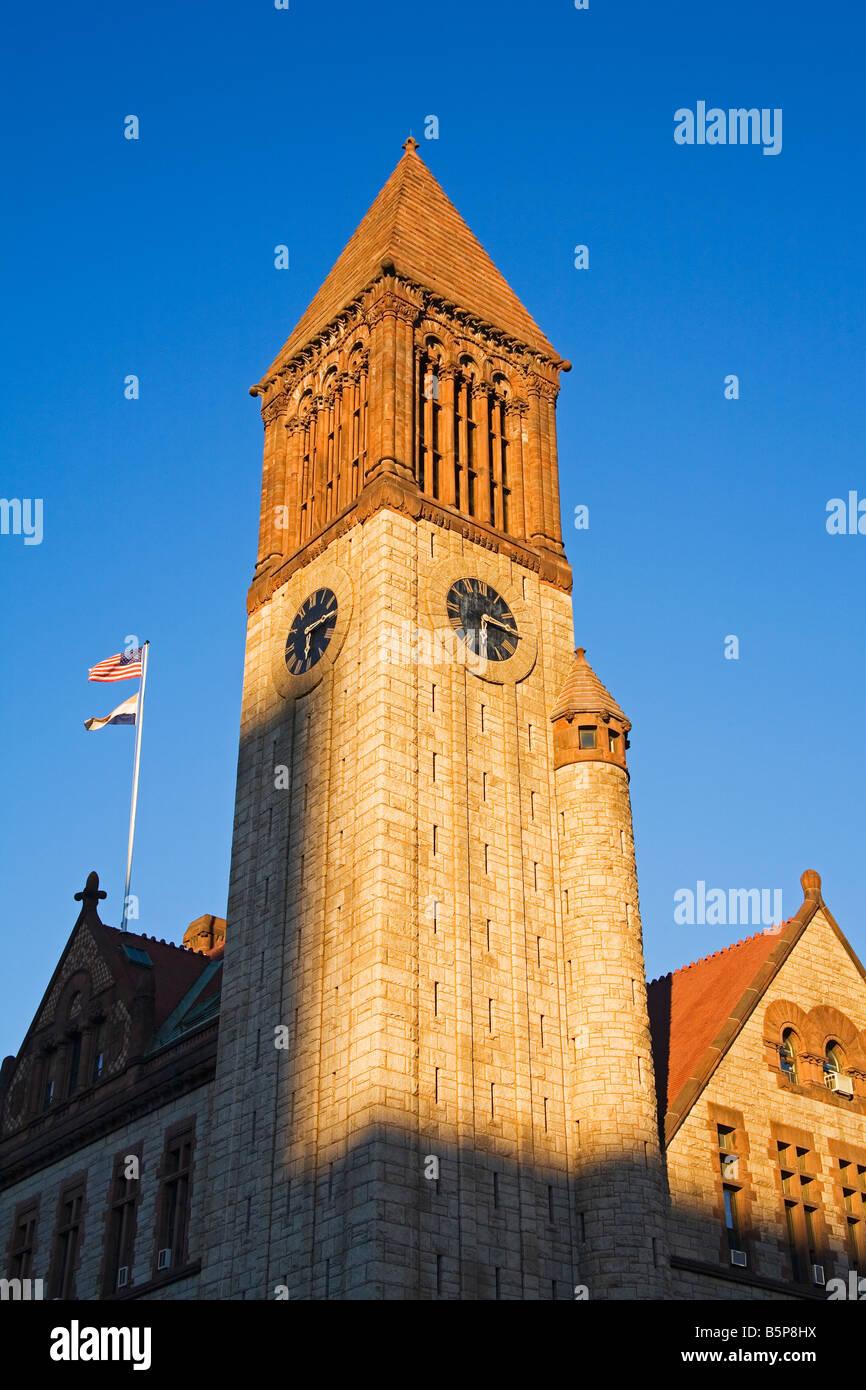 City Hall Clock Tower Albany New York State USA Stock