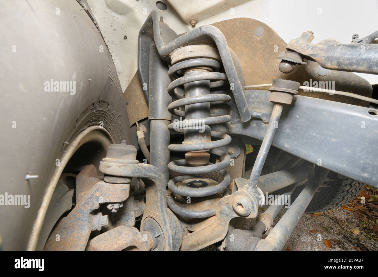 Jeep Wrangler Coil Spring Assembly Photo By Darrell Young Stock Pack