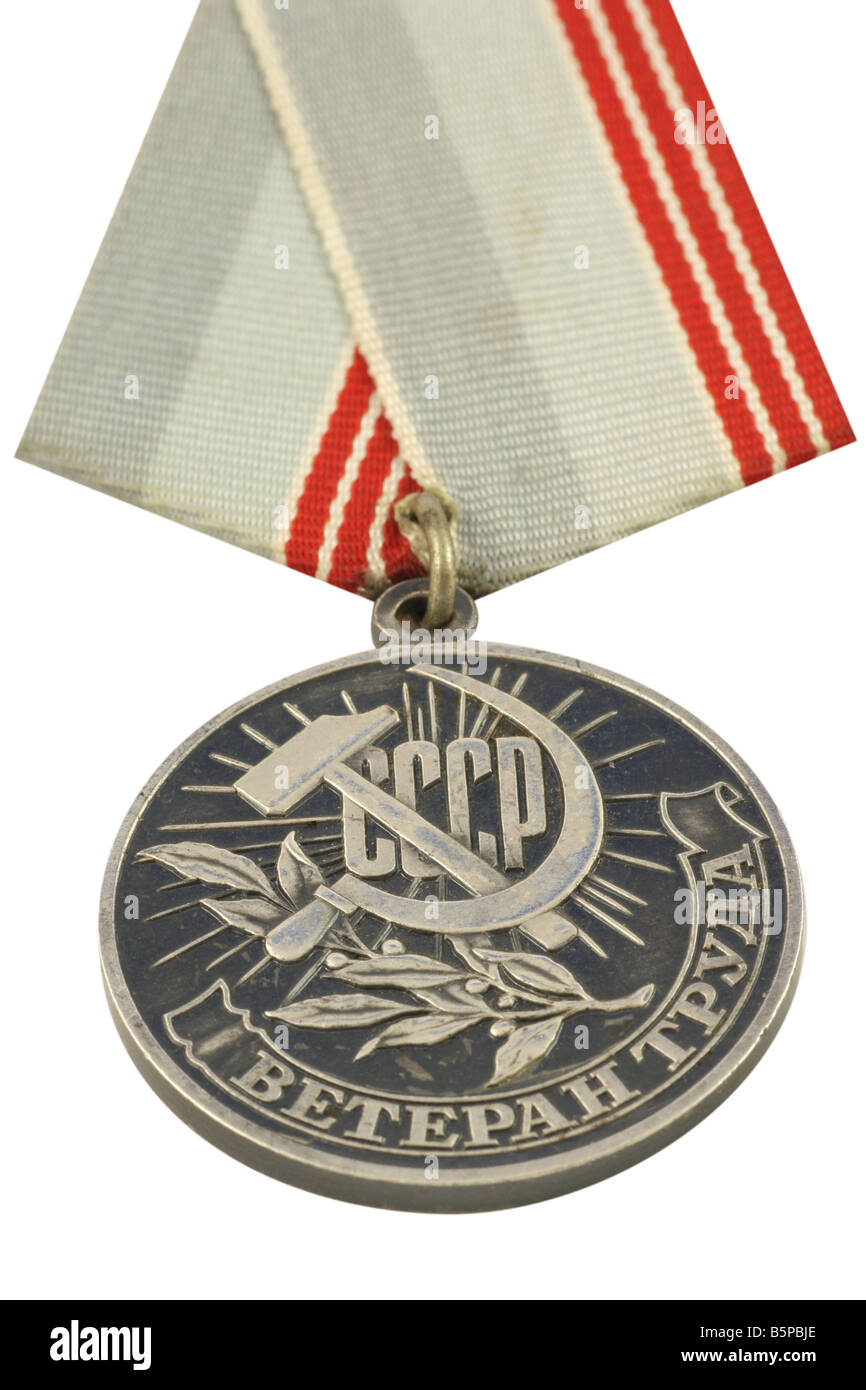 USSR Medal of Labour - Stock Image