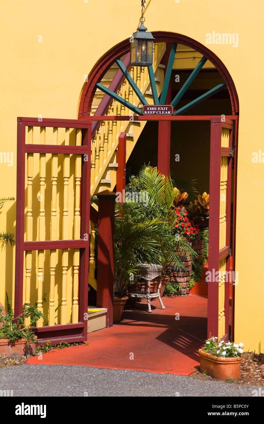Old City House Inn Restaurant St Augustine Florida Usa Stock Photo