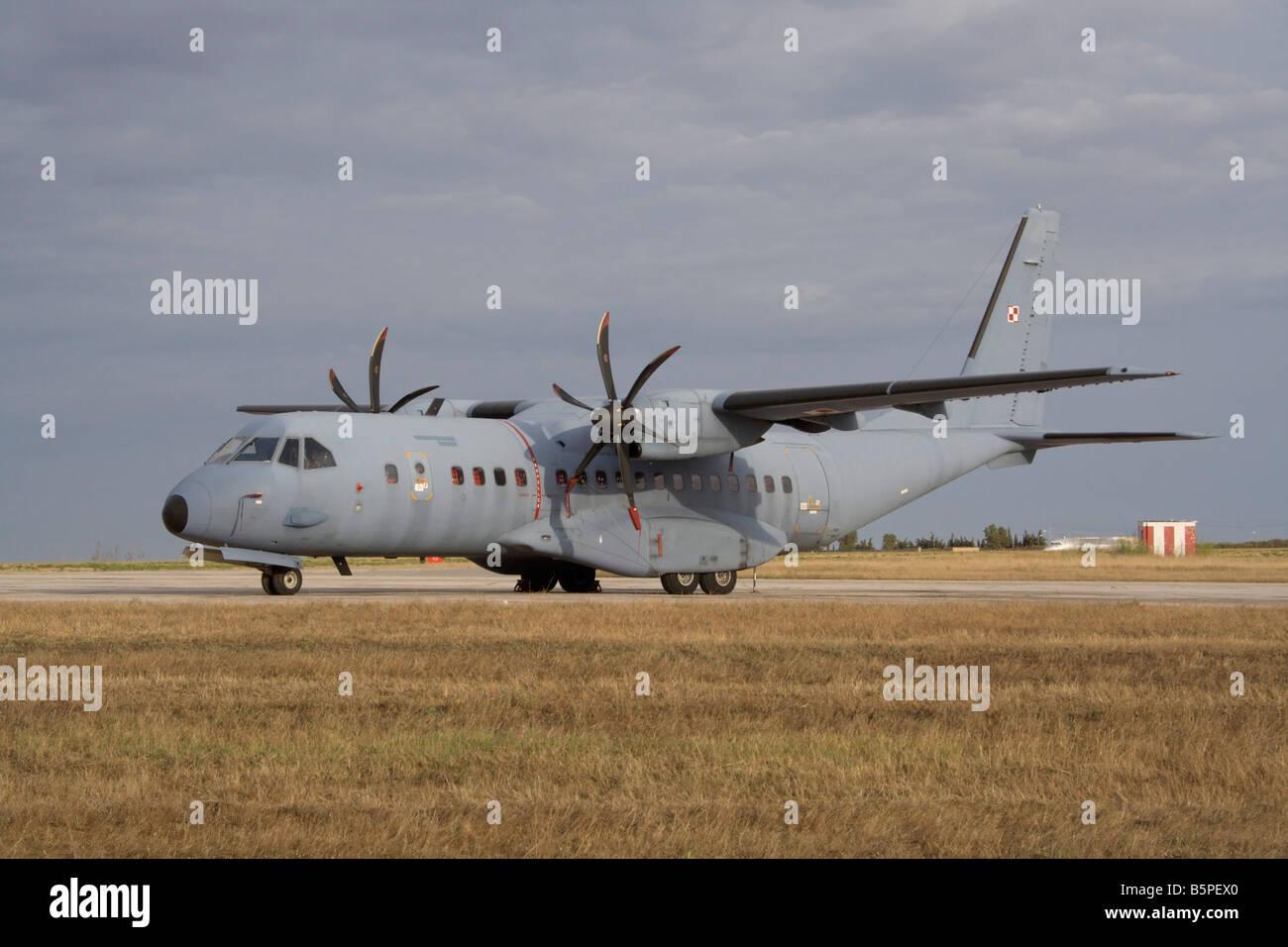 Polish Air Force CASA C-295M light military cargo plane - Stock Image