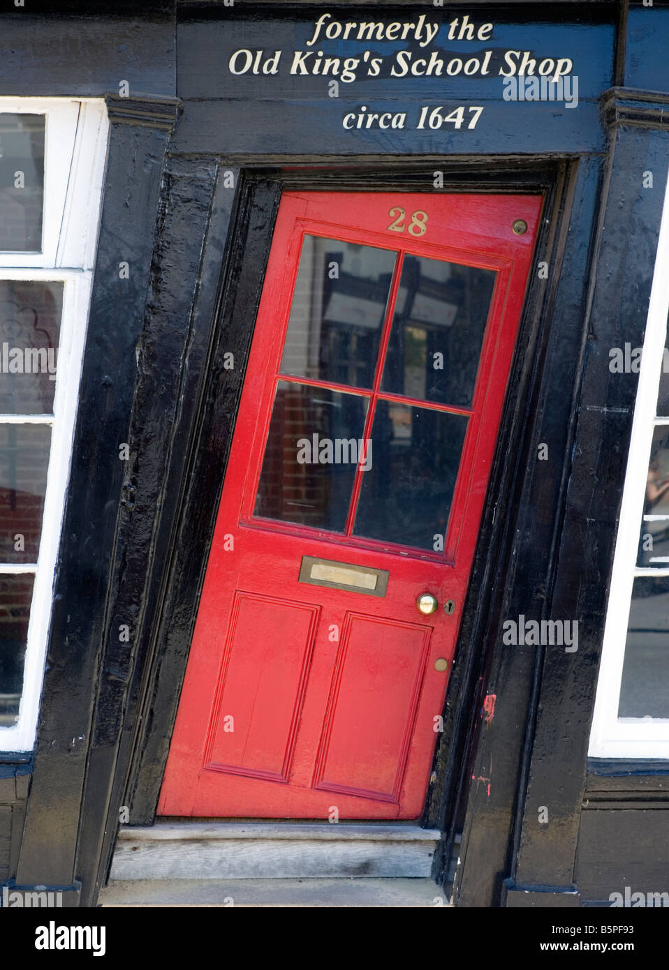 Kings gallery shop with crooked door in Canterbury Kent United Kingdom - Stock Image & Canterbury Shop Crooked Door Stock Photos \u0026 Canterbury Shop Crooked ...