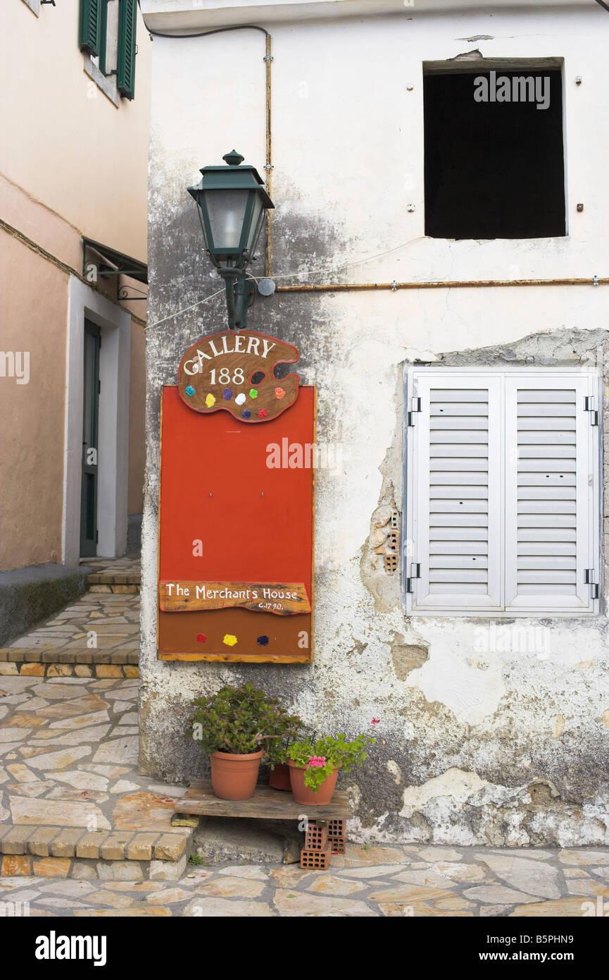 The Merchants House Lakones Corfu - Stock Image
