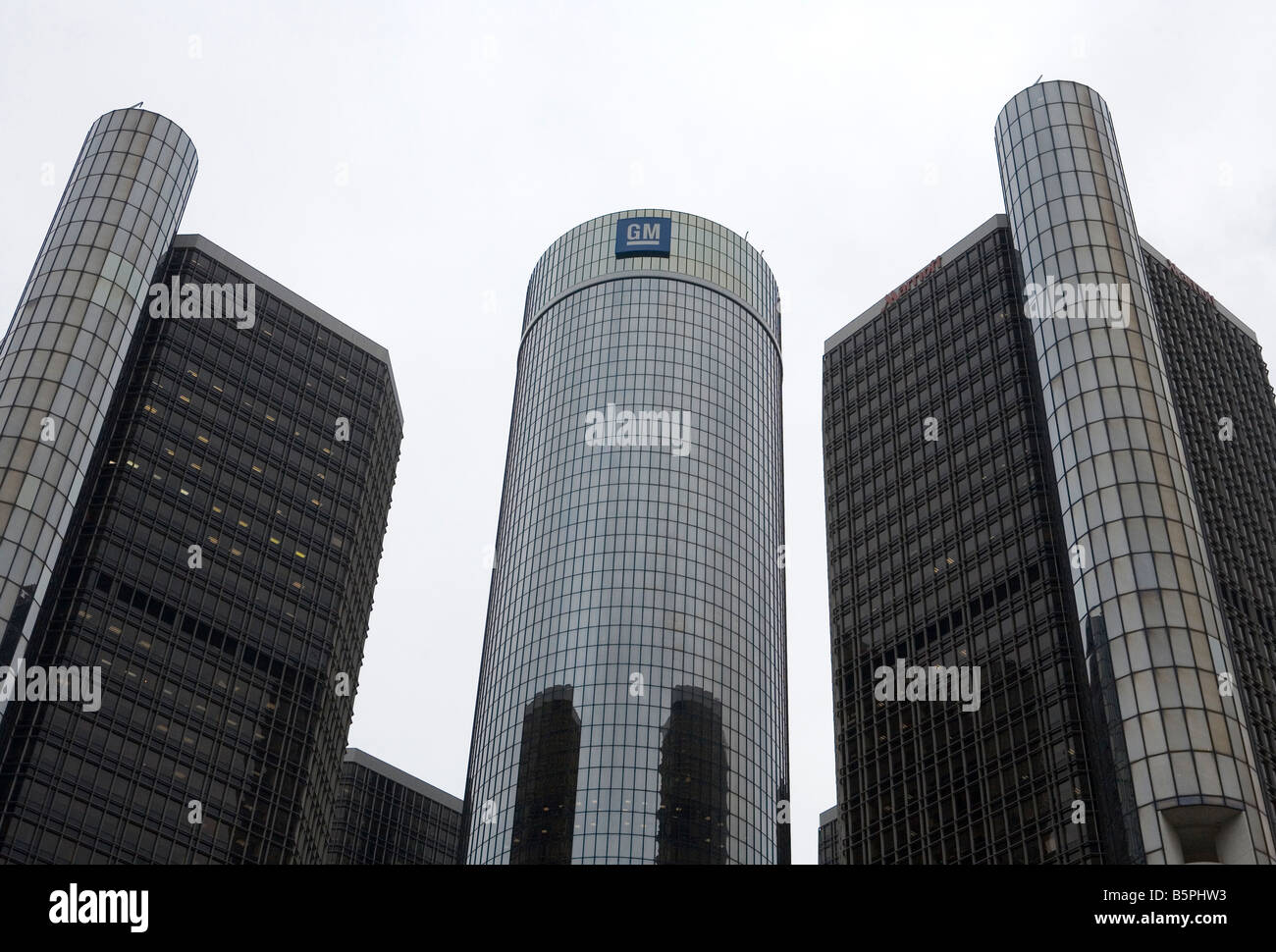 General Motors World Headquarters in Detroit, Michigan. Stock Photo