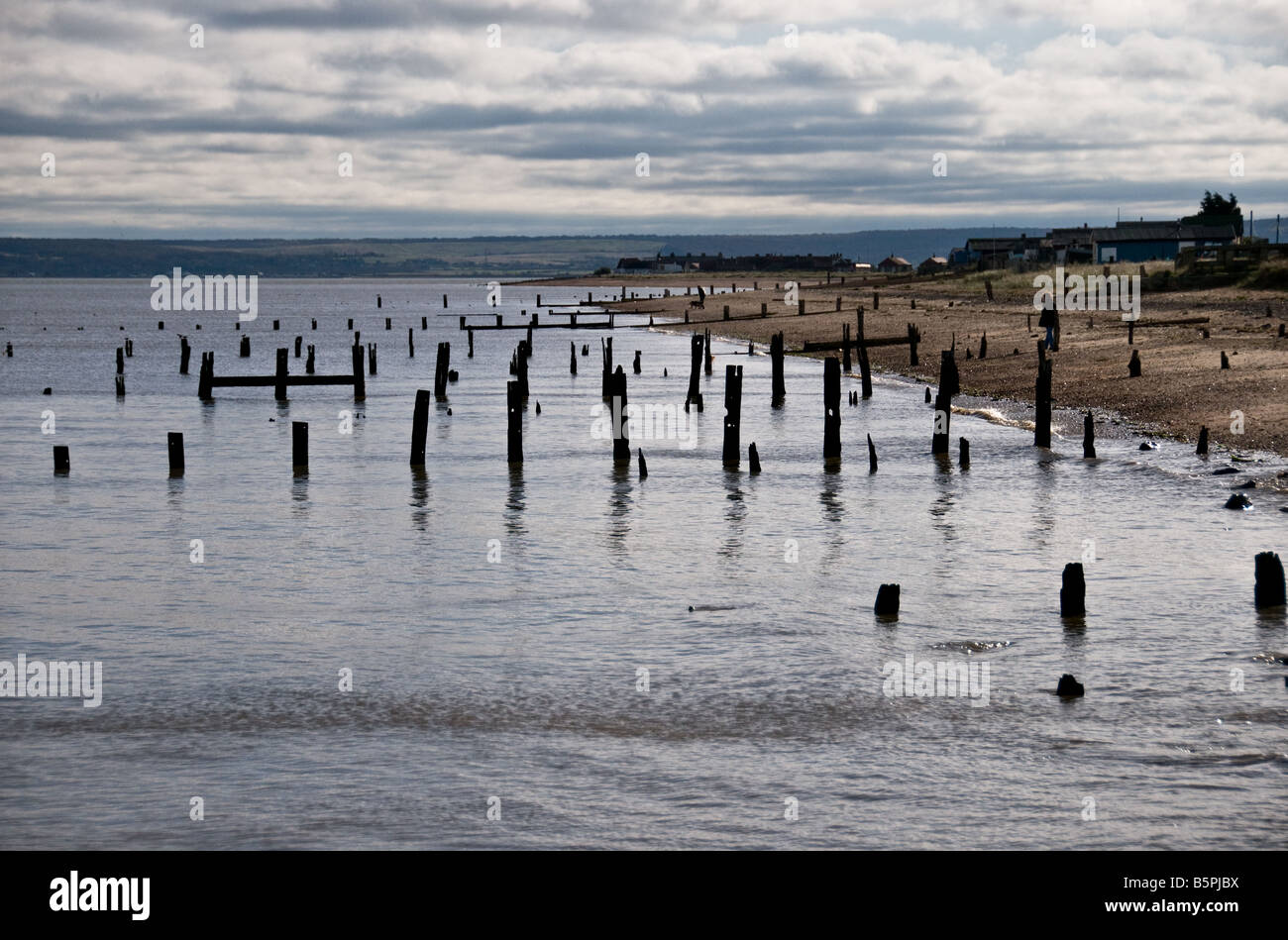 The beach at Leysdown on Sea on the Isle of Sheppy in Kent. - Stock Image