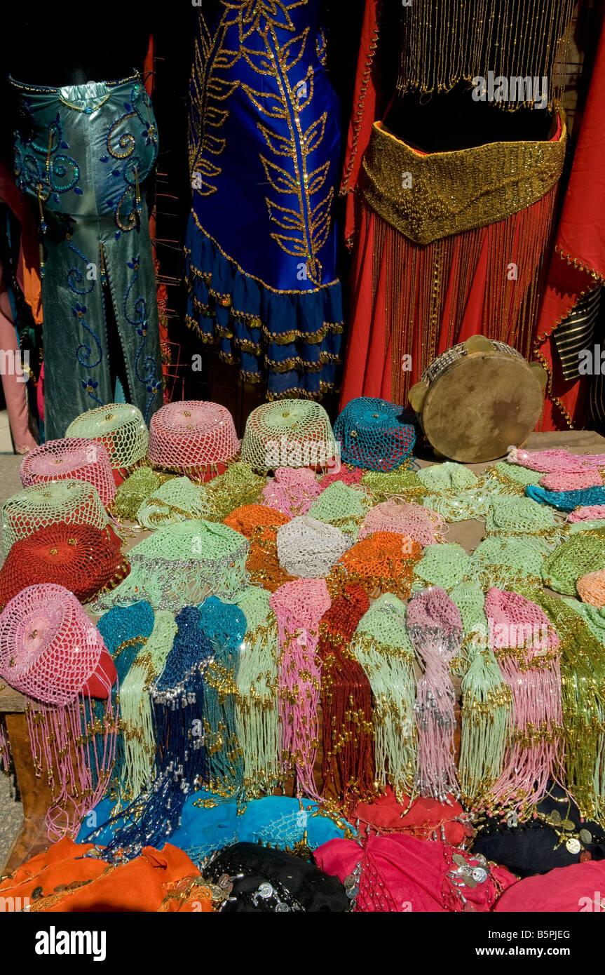 Garment souvenir for sale in Khan el Khalili Bazaar, Cairo Egypt - Stock Image
