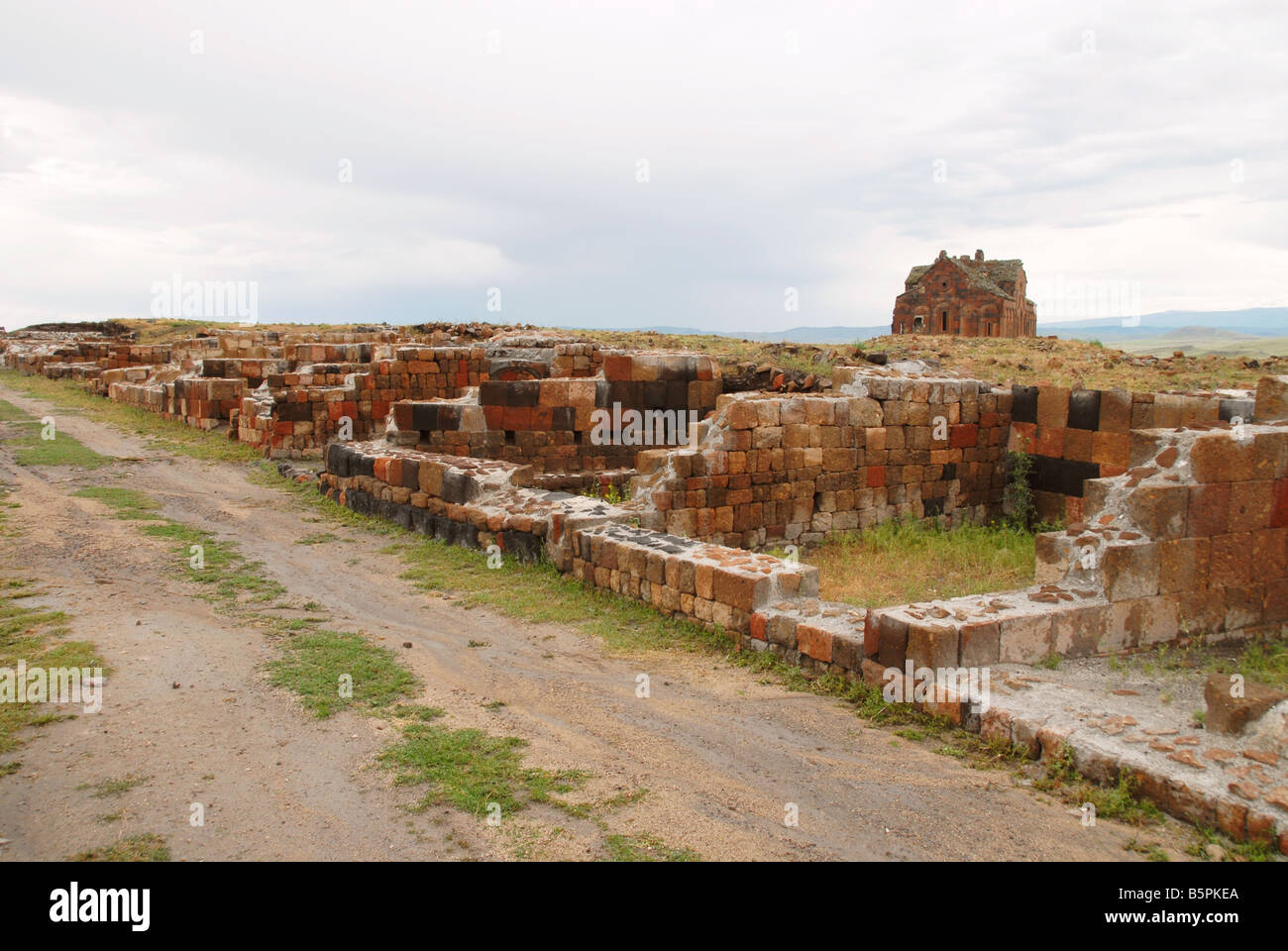 Ani, the old city now abandoned, near the border with Armenia - Stock Image