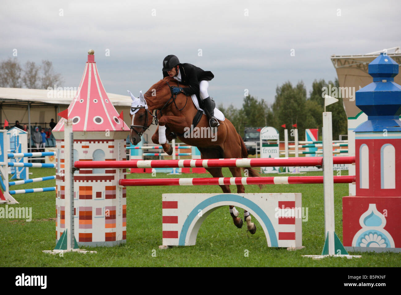 Show jumping - Stock Image