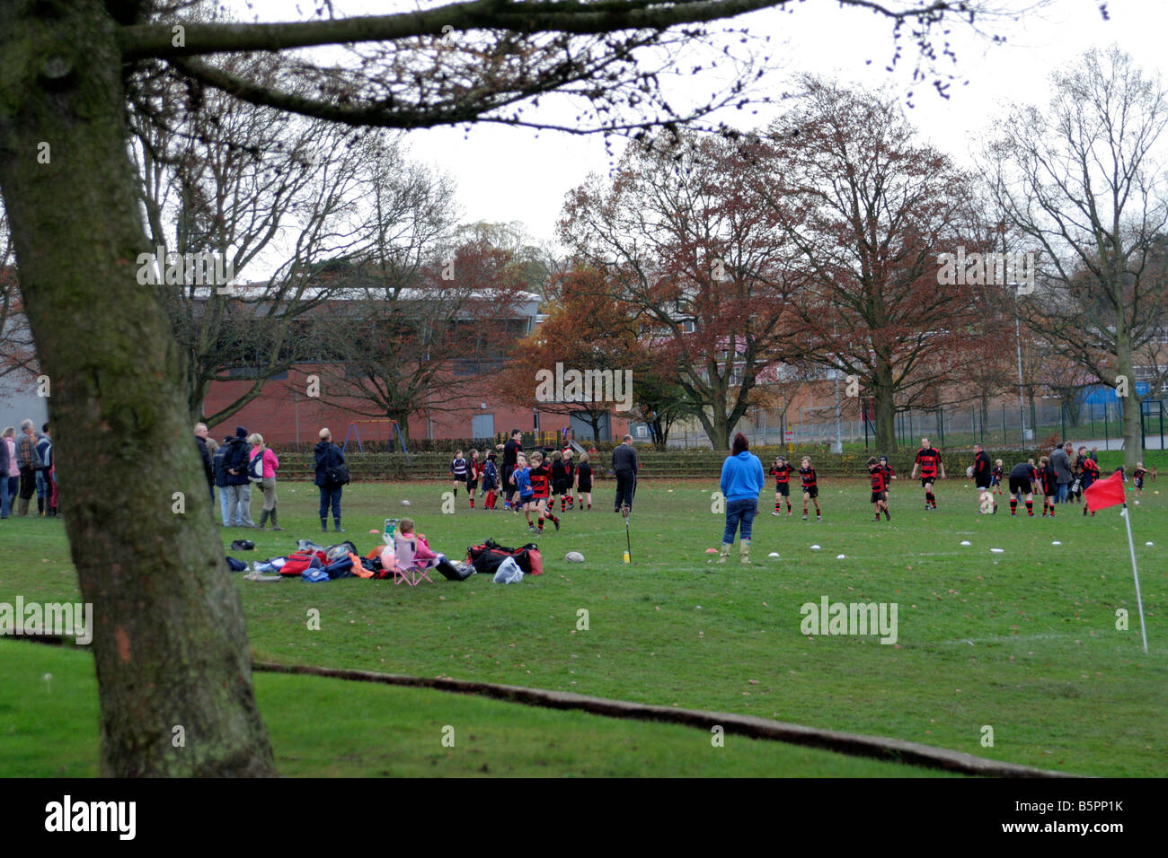 AMENITY SPORT GROUNDS FOR PUBLIC USE WELLINGTON SOMERSET - Stock Image