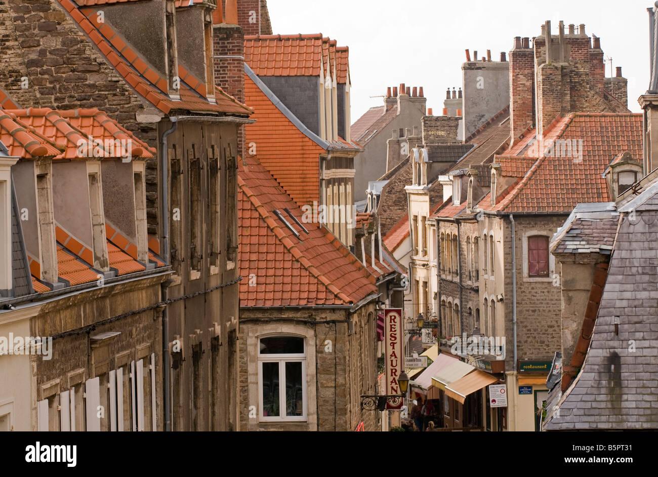 Historical French architecture of Boulogne sur Mer, Nord-Pas de Calais France - Stock Image
