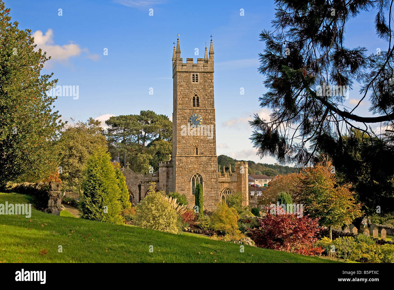 Church in Bovey Tracey, Devon, UK - Stock Image