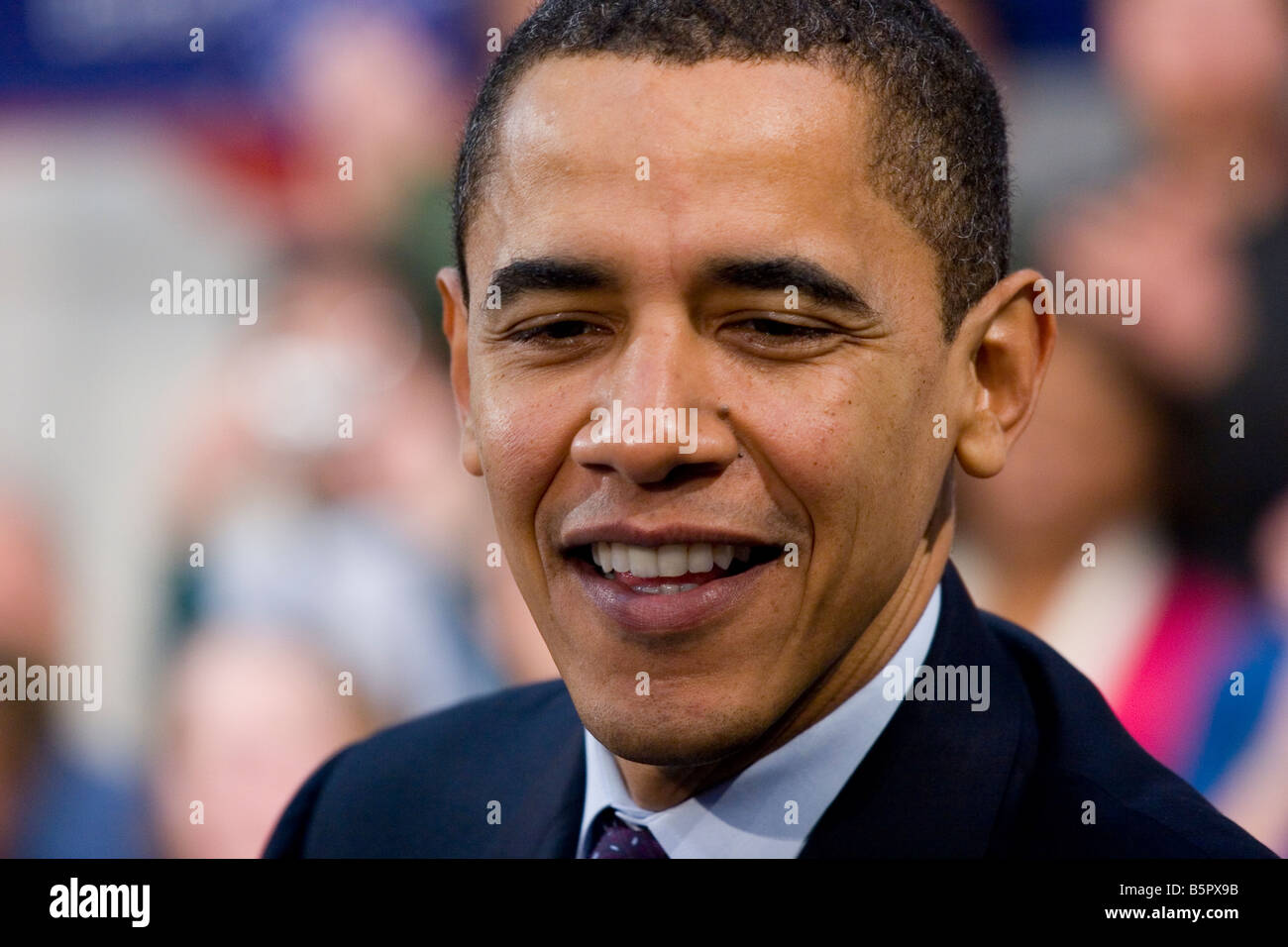 Barack Obama campaigning for office of United States President 2008 - Stock Image