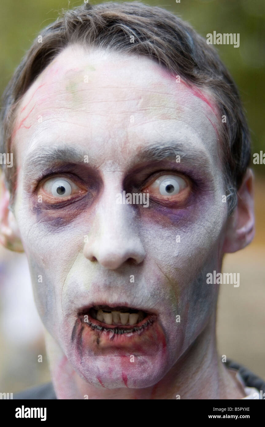 ghoul at zombie walk - Stock Image