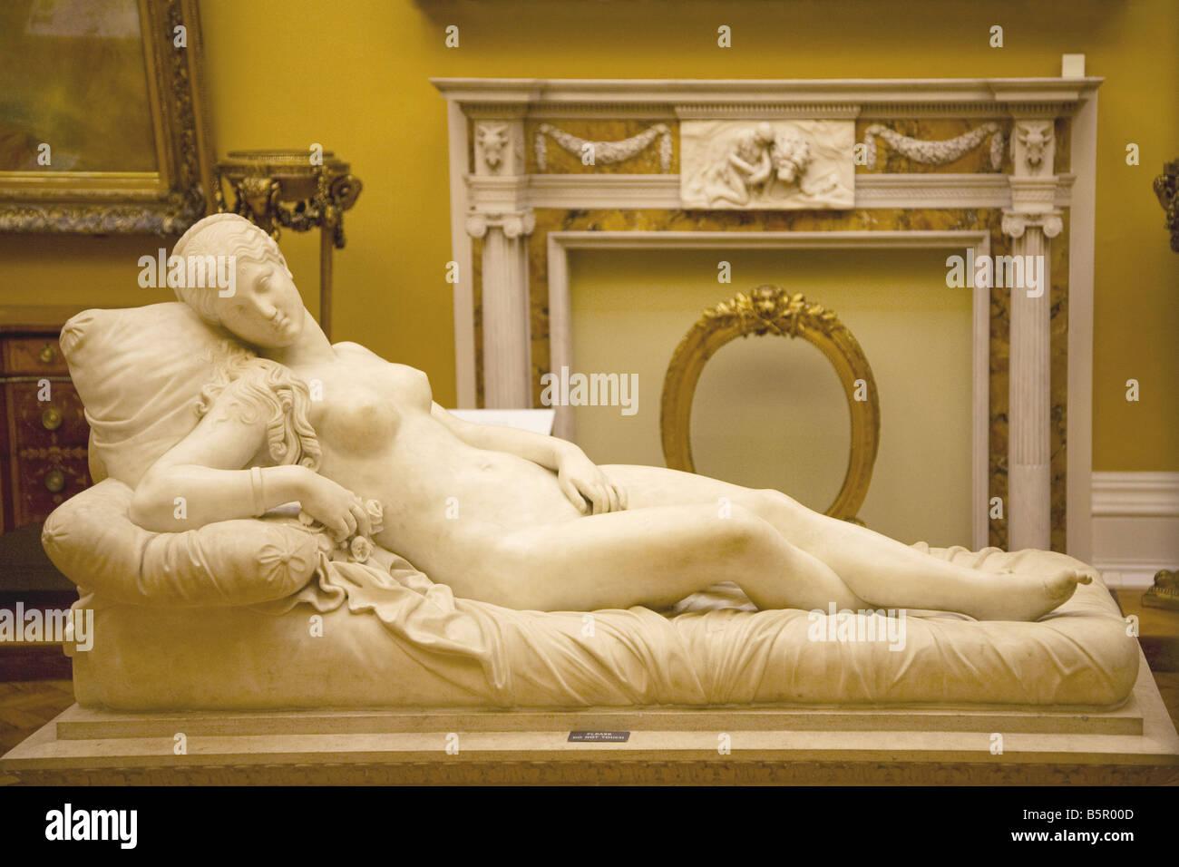 Venus after Lorenzo Bartolini interior of Lady Lever Gallery Port Sunlight Model Village Wirral Merseyside England - Stock Image