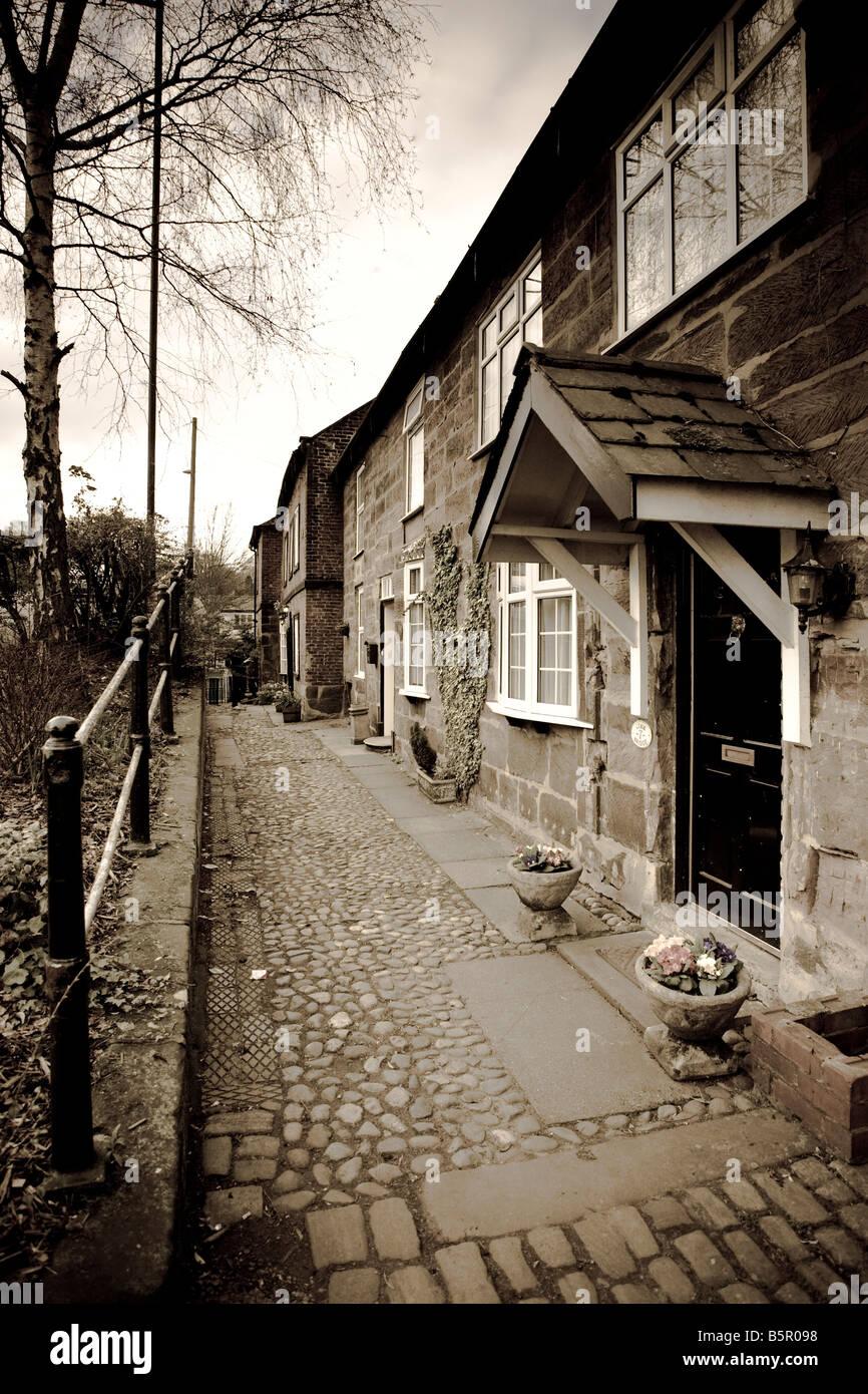 Houses, Lymm, Cheshire, England Stock Photo
