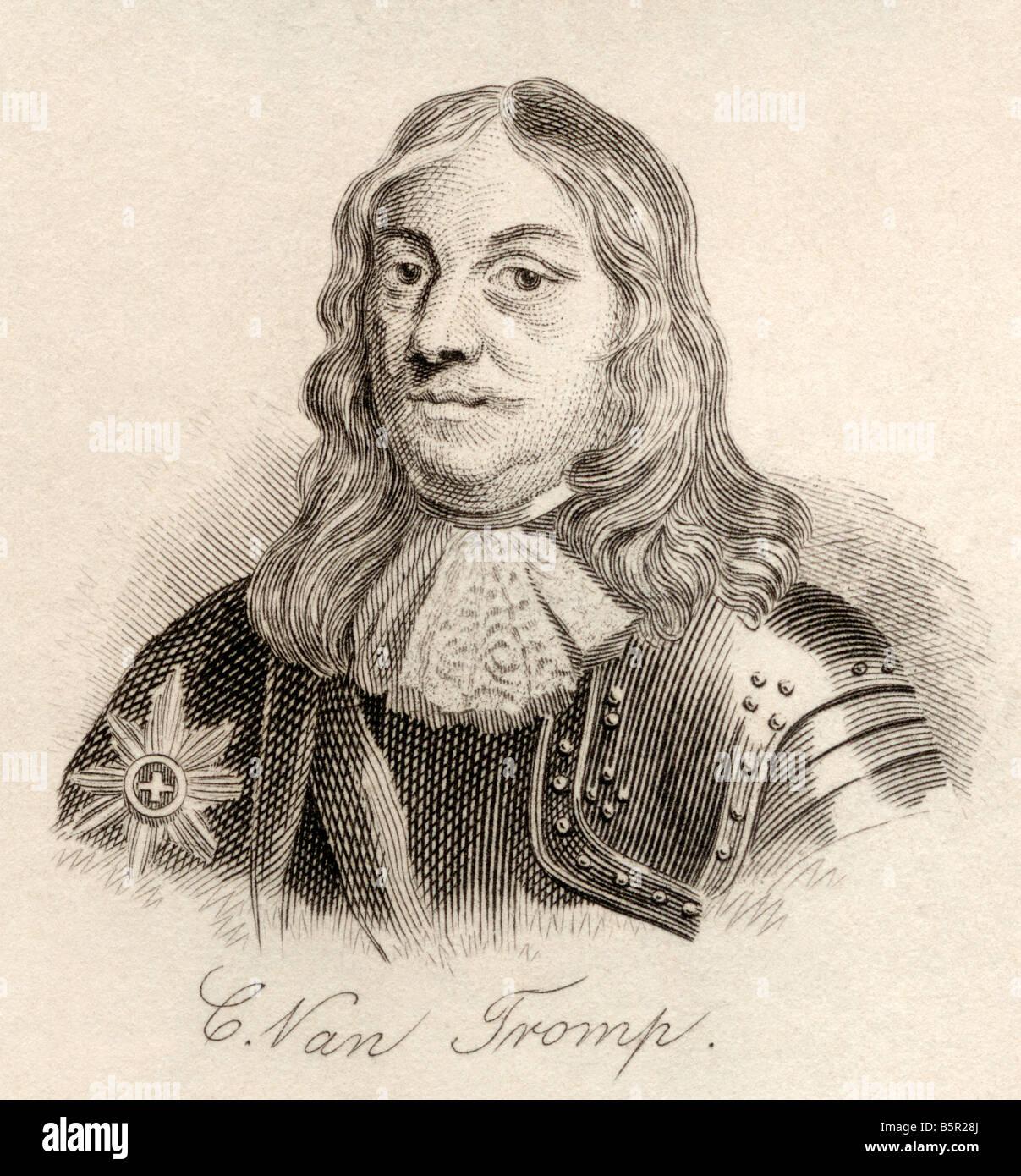 Sir Cornelus Martinus Tromp 1st Baronet 1629 1691 Commander in Chief of the Dutch and Danish navy - Stock Image