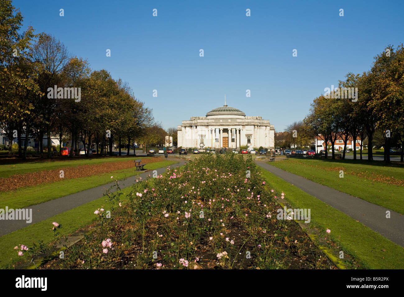 Lady Lever Gallery and gardens in Port Sunlight Model Village Wirral Peninsula Merseyside England UK United Kingdom - Stock Image