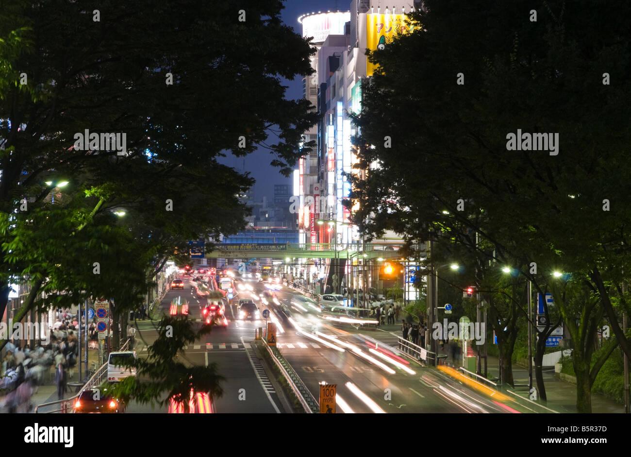 Busy Street in Shibuya, Tokyo - Stock Image