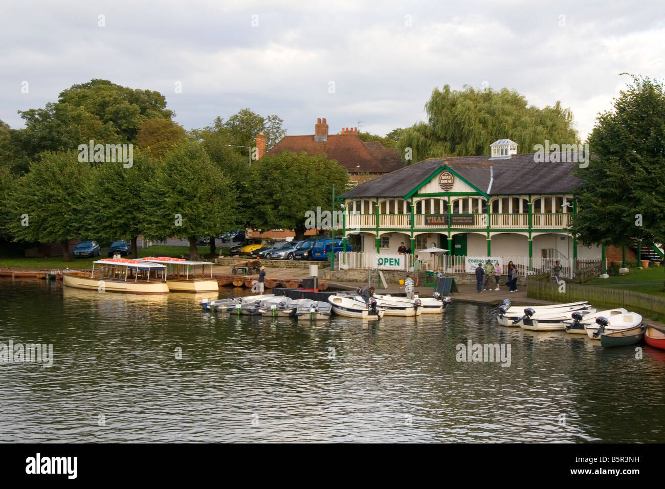 The Boat House on the River Avon at Stratford upon Avon Warwickshire England - Stock Image
