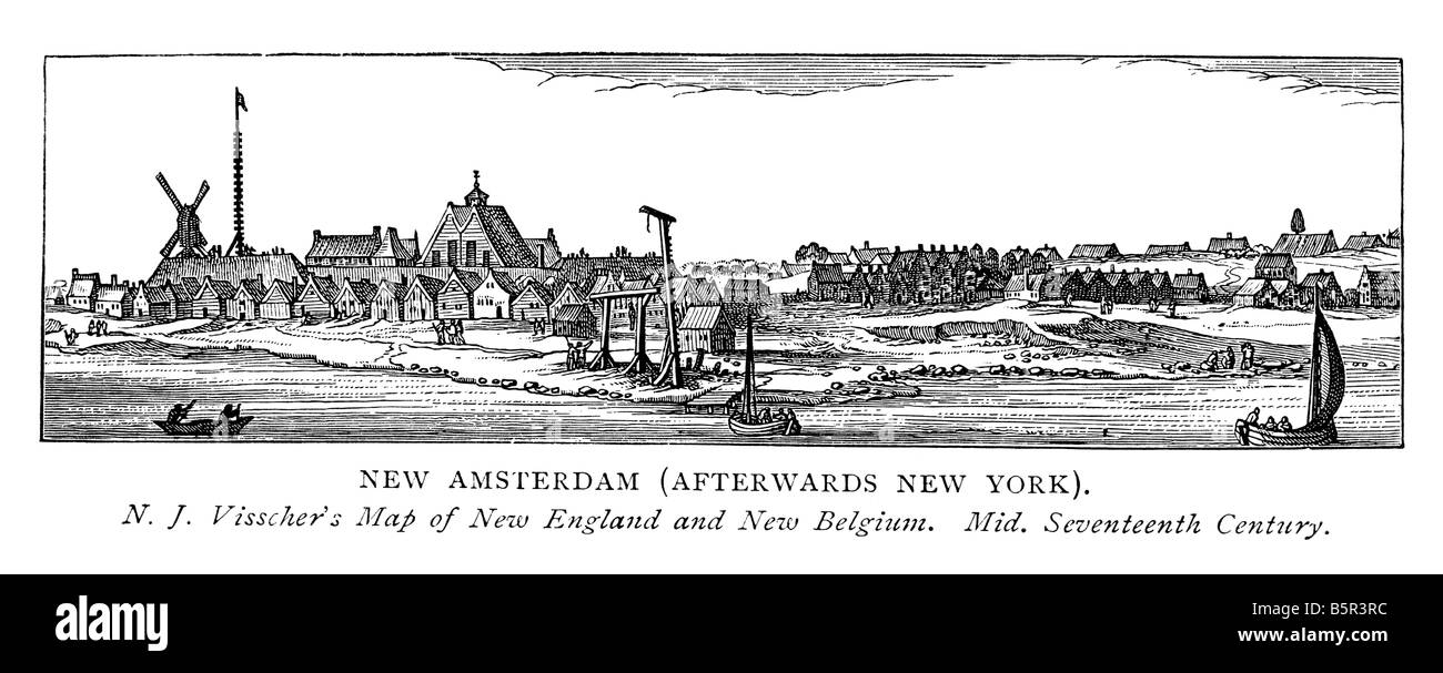 New Amsterdam (afterwards New York) - Stock Image
