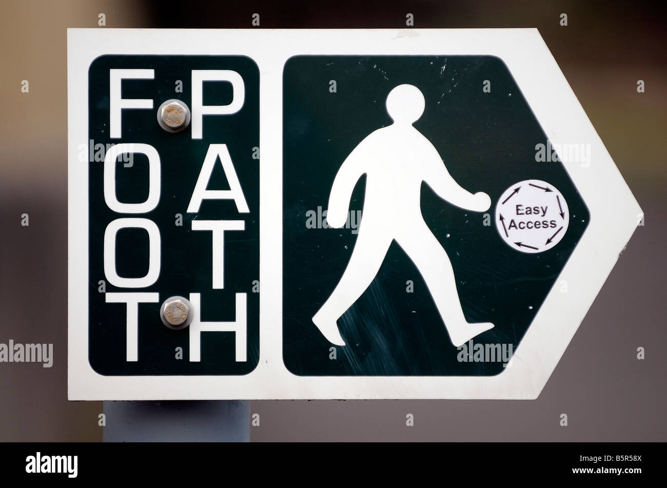 footpath sign - Stock Image