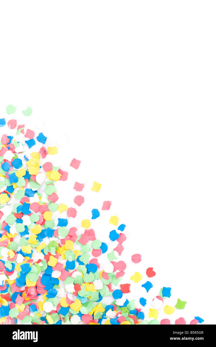 Background made with lots of colorful confettis - Stock Image