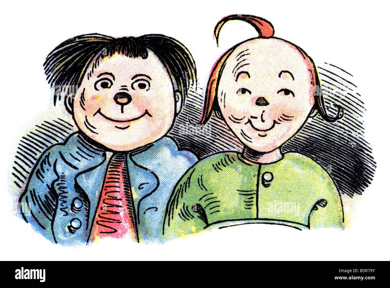 Max and Moritz A Story of Seven Boyish Pranks Heinrich Christian Wilhelm Busch 1865 - Stock Image