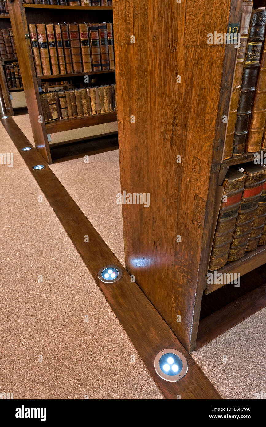 Fellows Library a medieval library at Jesus College Oxford - Stock Image