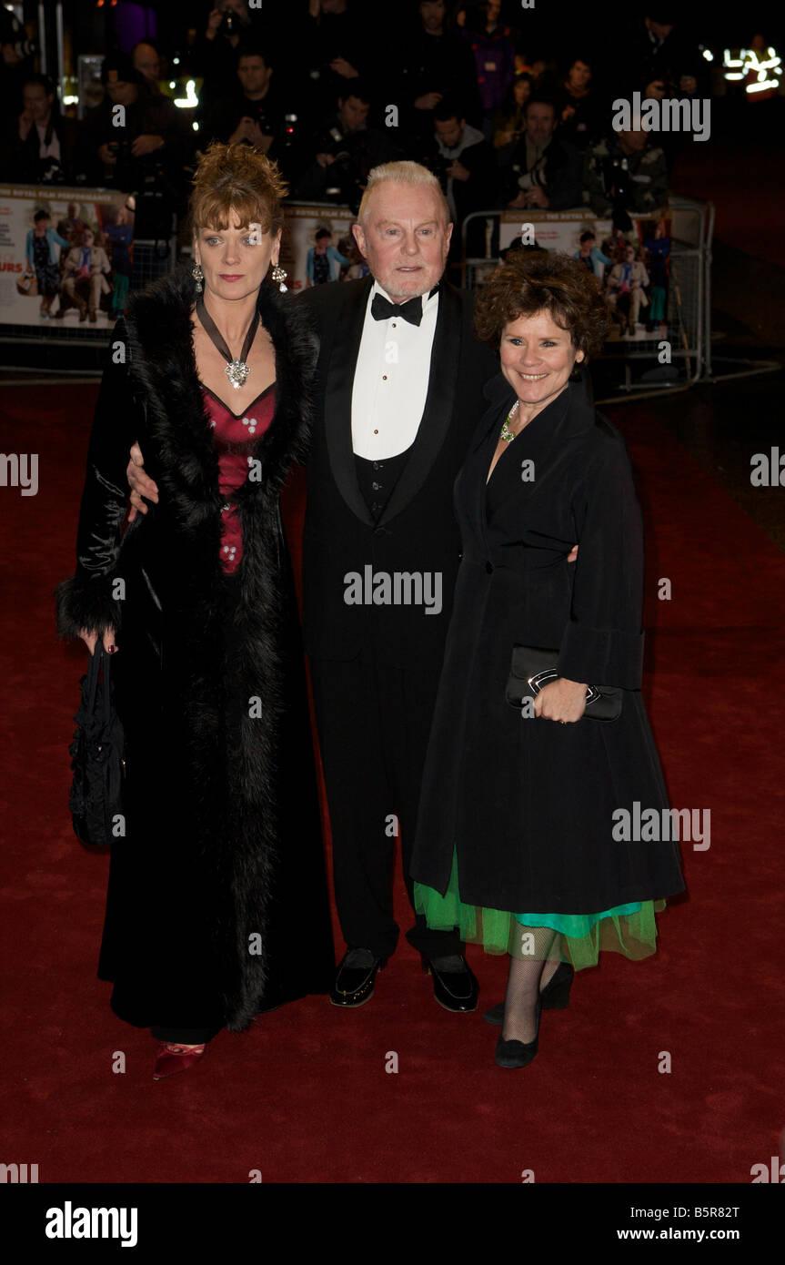 Pic Shows Imelda Staunton Sir Derek Jacobi and Samantha Bond attending The Royal Premier of A bunch of amateurs - Stock Image