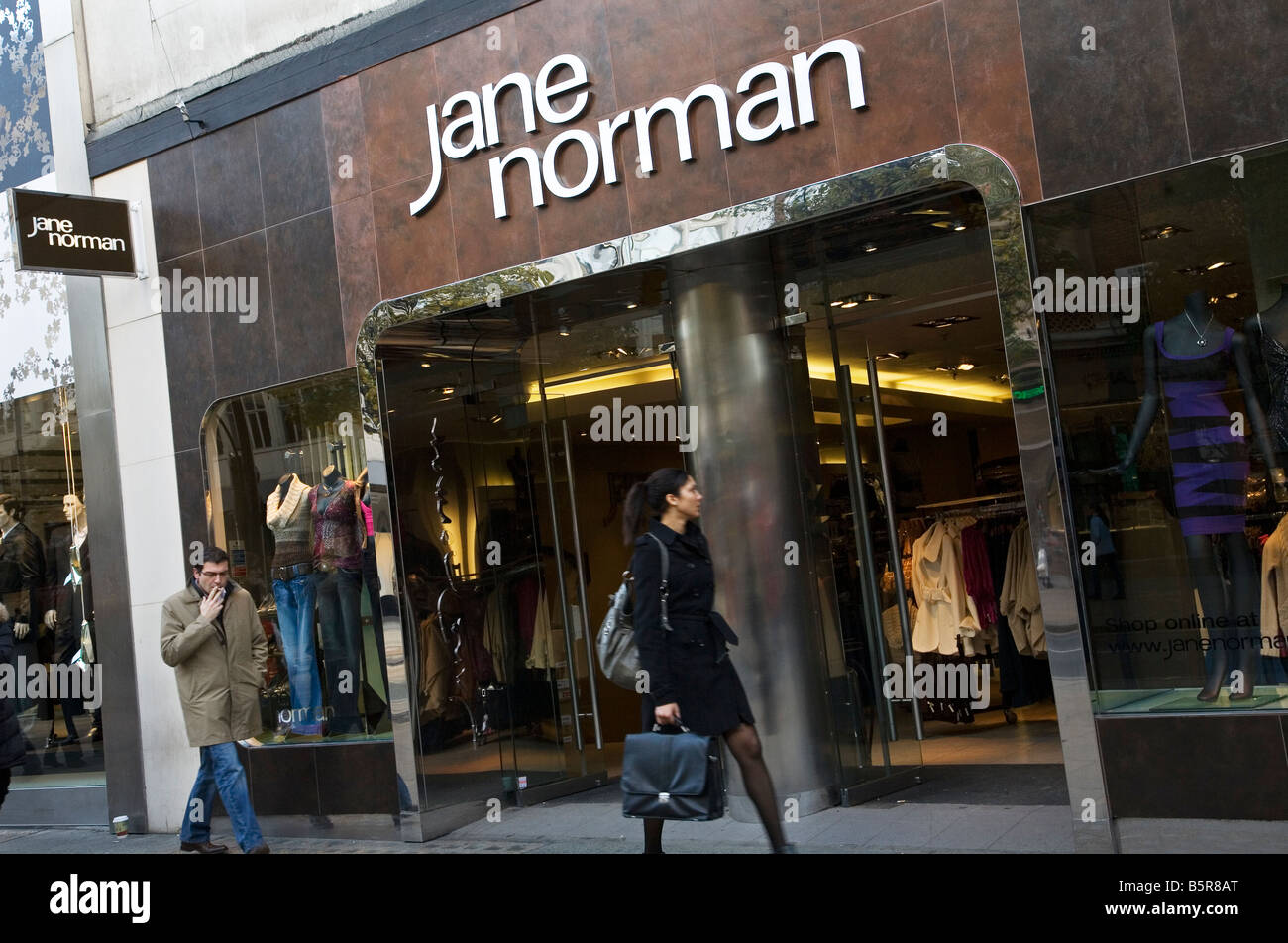 Jane Norman clothes shop on Oxford Street - Stock Image