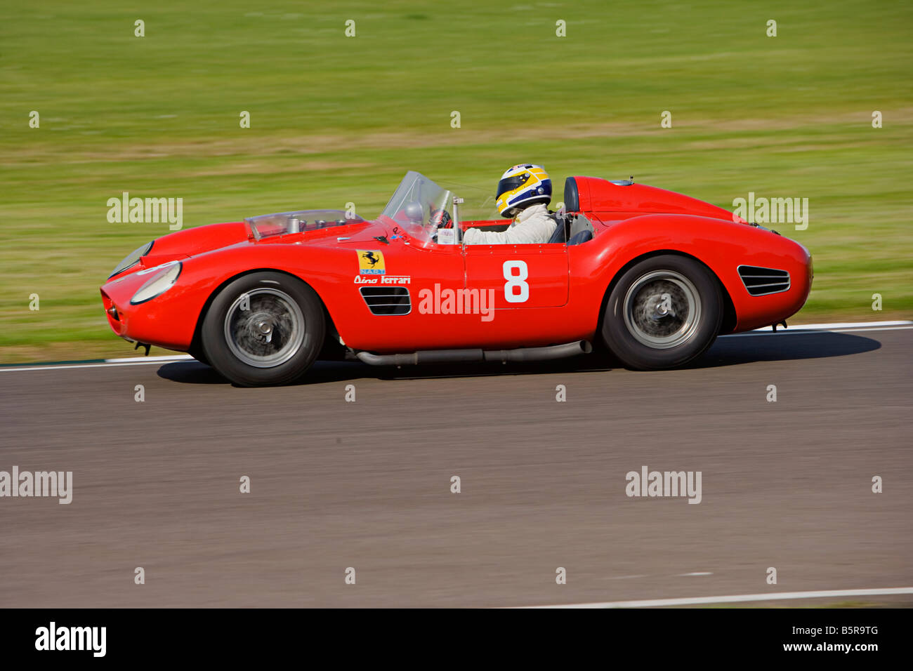 Ferrari Dino, racing at Goodwood Revival, West Sussex - Stock Image