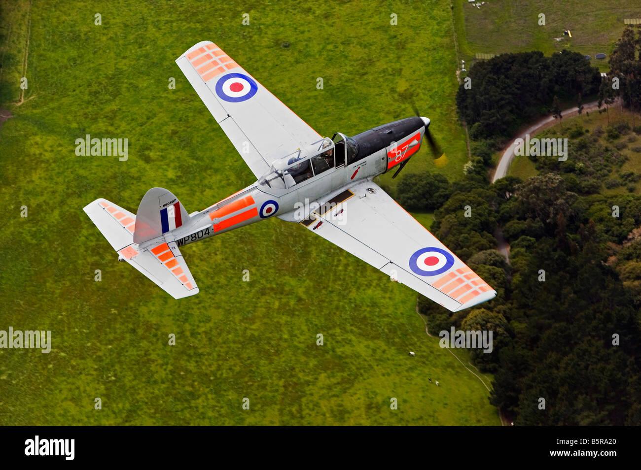 aerial view above de Havilland aircraft Chipmunk DH10 - Stock Image