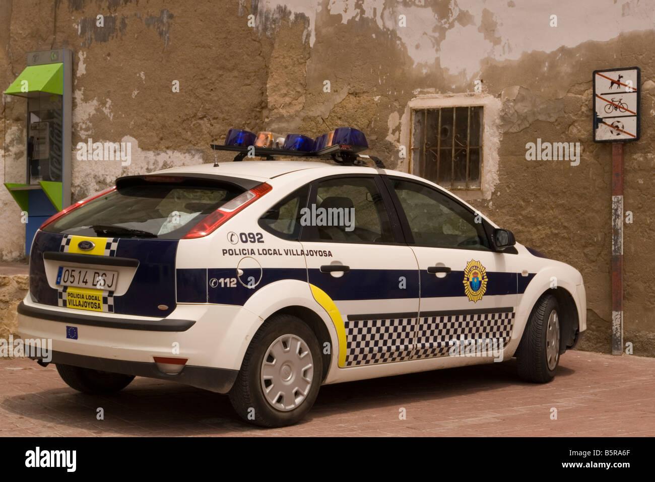 Spanish Police Car Spain Policia Local Stock Photo 20796567 Alamy