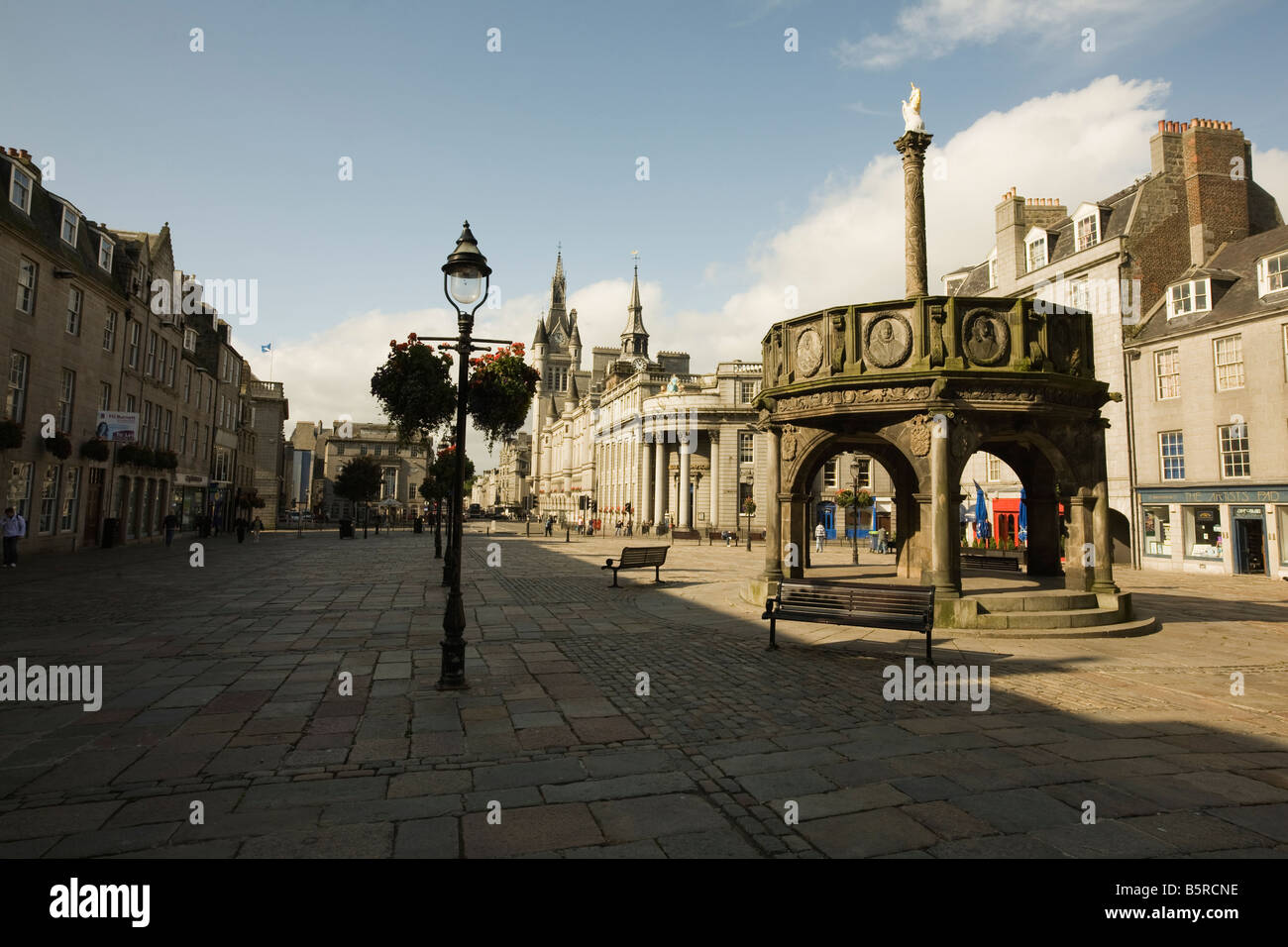A square in the central part of Aberdeen next to Union Street - Stock Image
