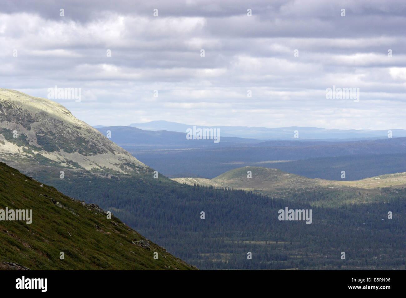 Scandinavian Landscape view from Städjan in Dalarna, Sweden. - Stock Image