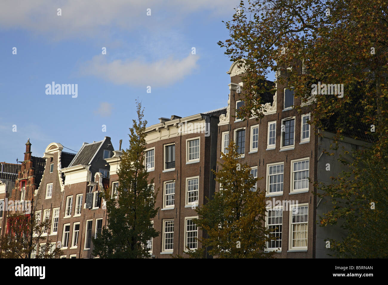 Architecture and houses besides the Prinsengracht canal in Amsterdam - Stock Image