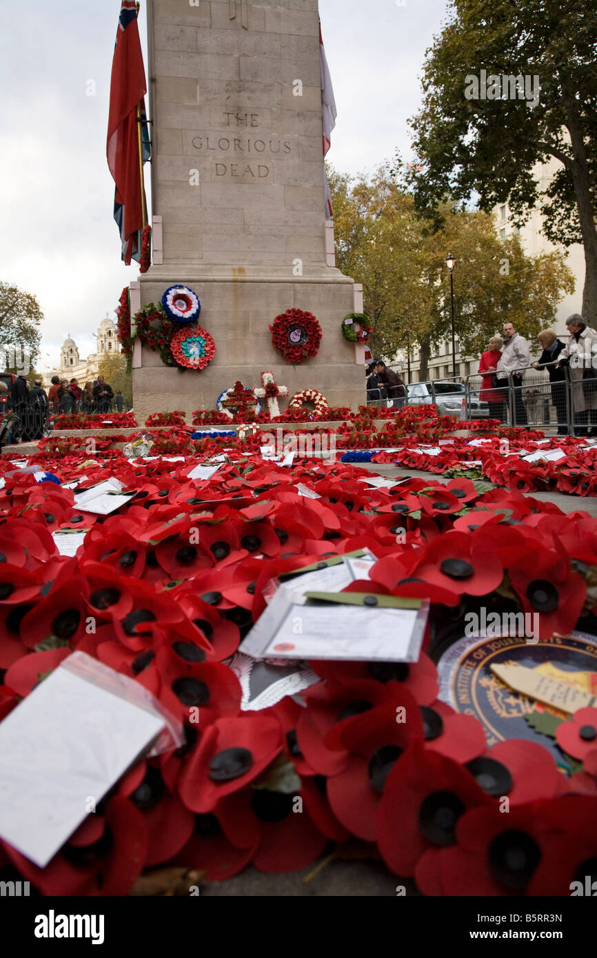 The Cenotaph Whitehall London - Stock Image