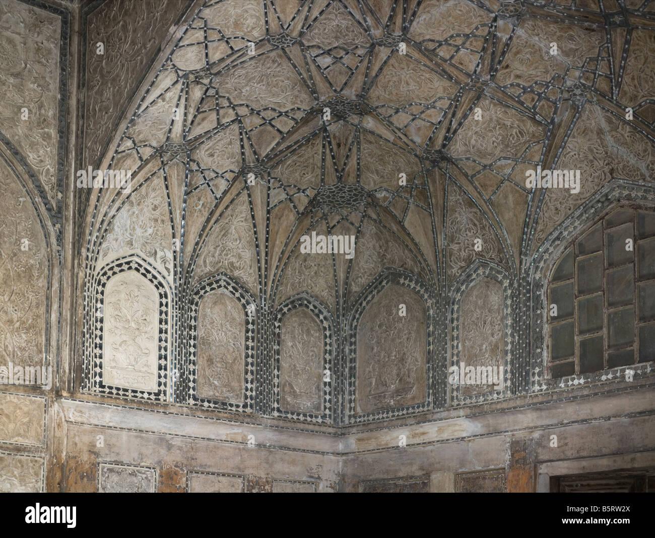 Rang Mahal Red Fort Delhi India interior built by Shah Jahan 1639-48 - Stock Image