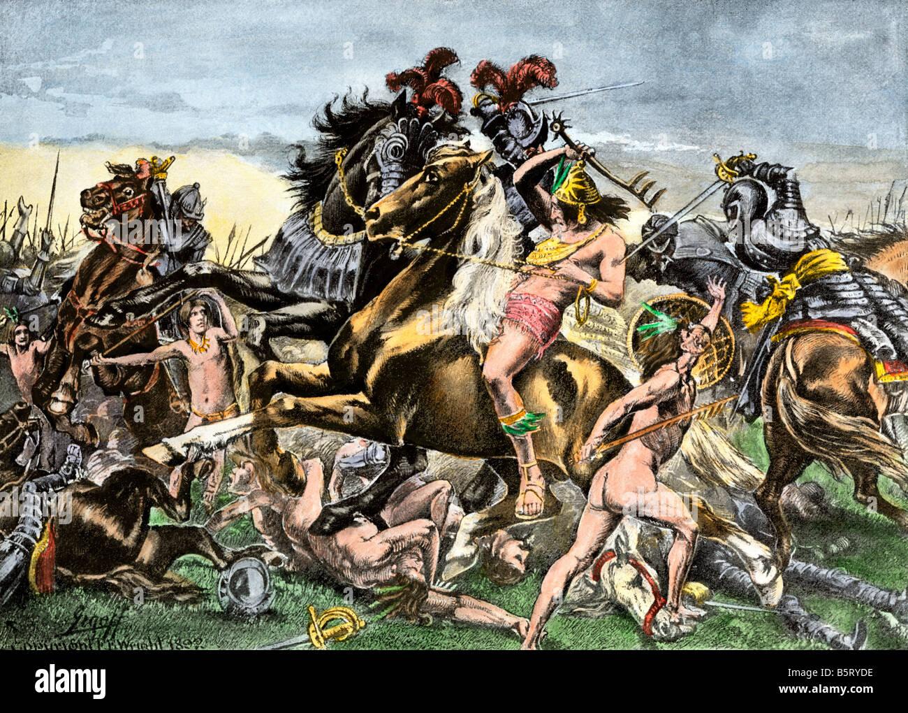 Manco Inca Yupanqui leads attack on the Spanish in Cusco Peru 1536