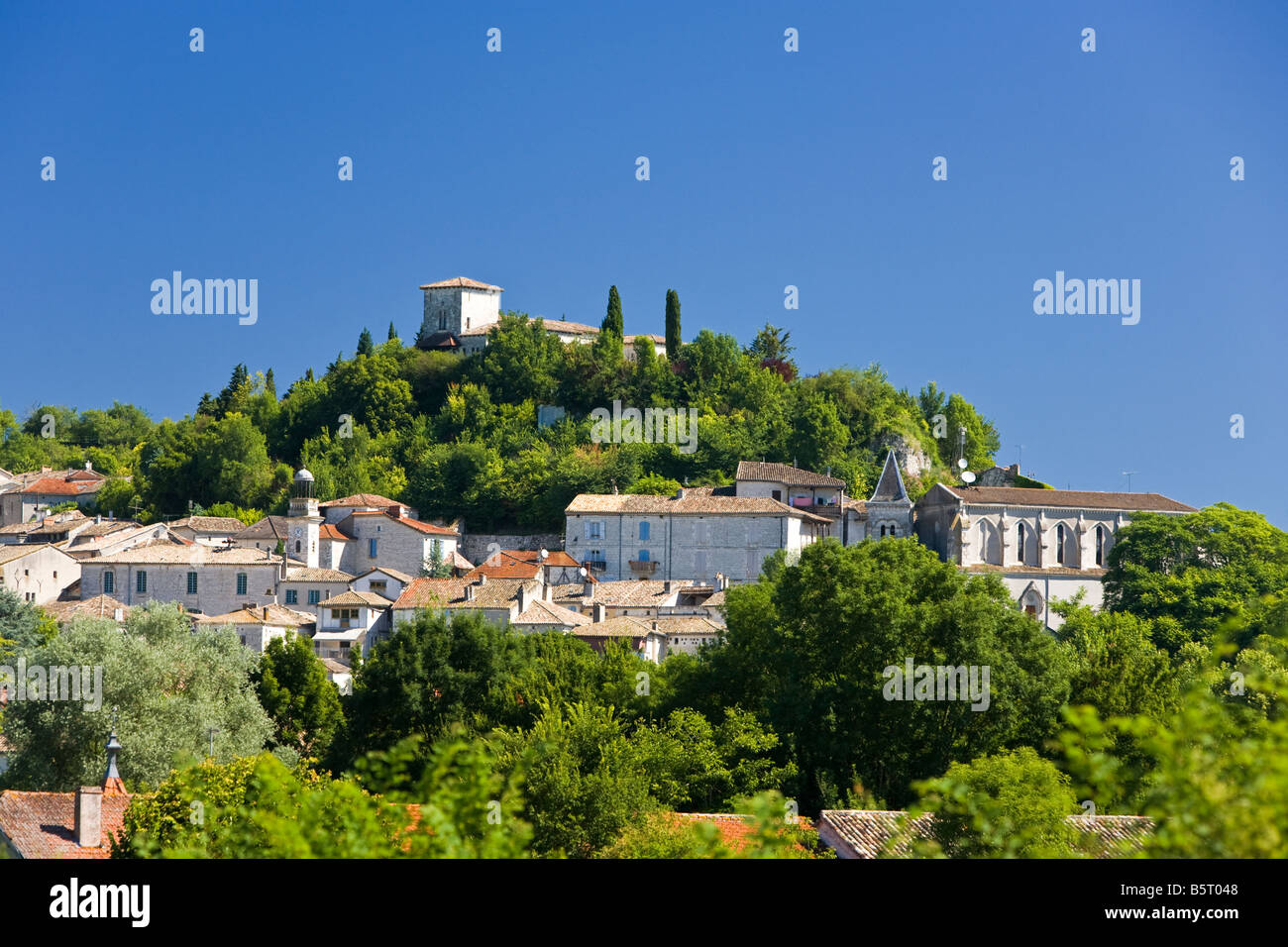 The medieval town of Montaigu de Quercy in Tarn et Garonne, France, Europe - Stock Image