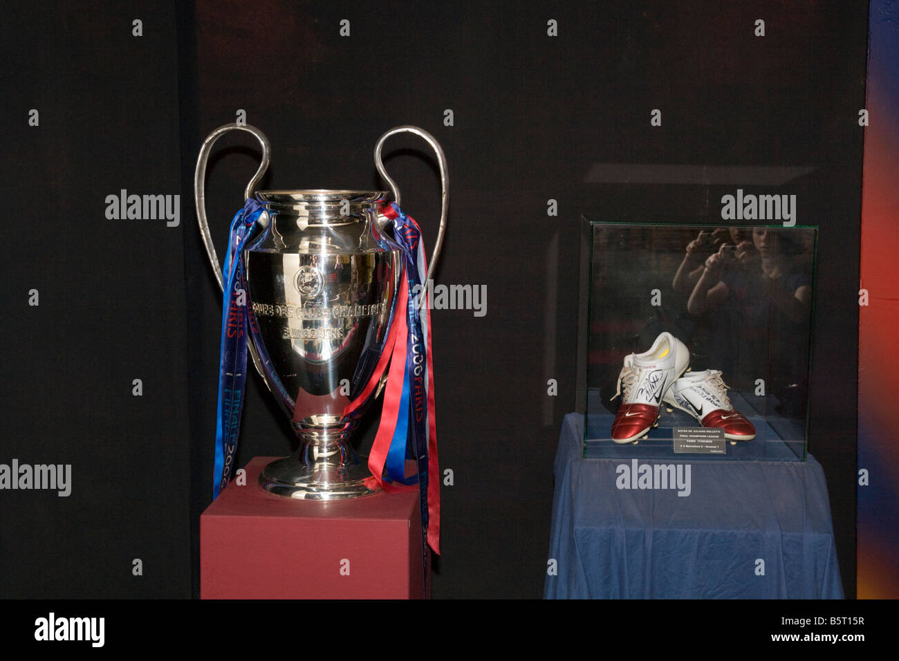 Barcelona Trophy Cabinet Display Win In Paris Cup Football