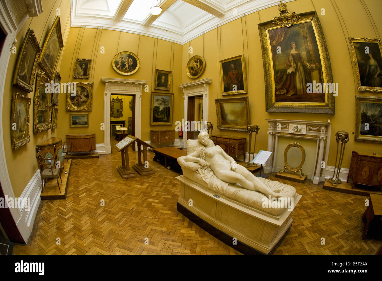 Interior of the Lady Lever Gallery in Port Sunlight Model Village Wirral Peninsula Merseyside England UK United - Stock Image