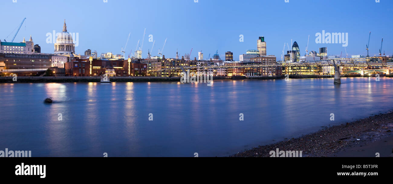 UK London Skyline viewed over the River Thames Stock Photo