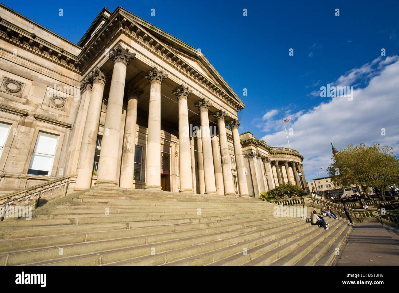 Central Library and Record's Office on William Brown Street Liverpool Merseyside England UK United Kingdom GB Great Stock Photo